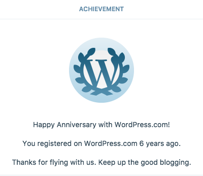 WordPress.com Anniversary